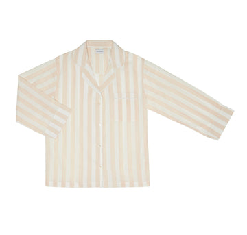 beige striped pyjama set