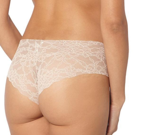 Invisible lace hipster [Pale Pink] - The Pantry Underwear