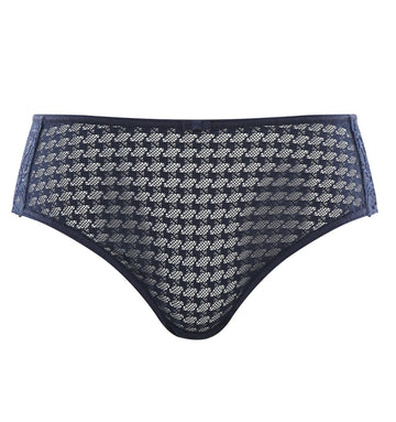 Houndstooth & floral lace french knicker [Navy] Bottoms Panache 8