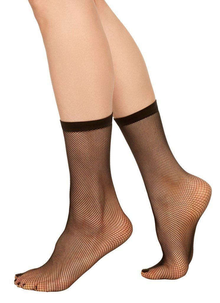 Liv net ankle sock [Black] - The Pantry Underwear