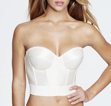 Longline low back bustier [Ivory] - The Pantry Underwear
