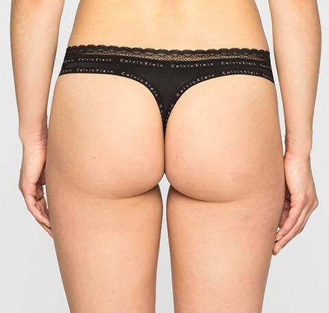 Branded trim thong [Black] - The Pantry Underwear