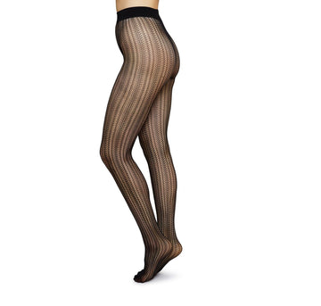 Selma Net Tights [Black] Accessories Swedish Stockings small