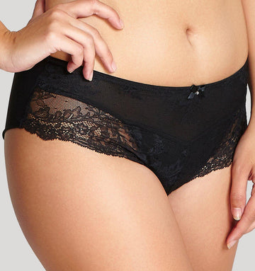 Lace seam-free brief [Black] Bottoms Panache