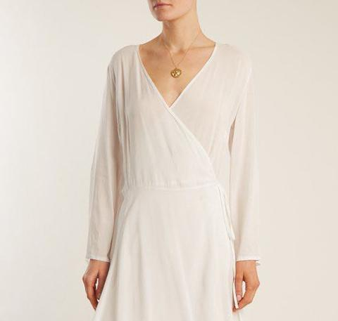 Bianca wrap dress [White] - The Pantry Underwear