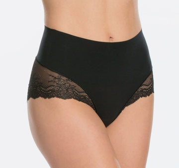Shapewear lace back French knicker [Black] Shape Spanx