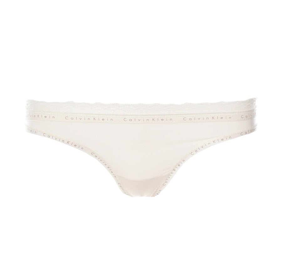 Branded trim thong [Ivory] Bottoms Calvin Klein small