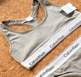 Cotton branded band bralette [Grey] - The Pantry Underwear