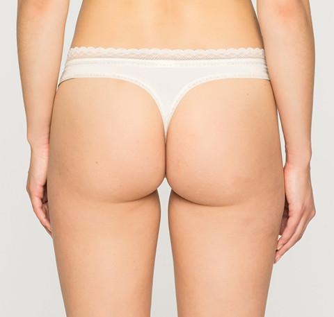 Branded trim thong [Ivory] Bottoms Calvin Klein