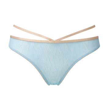 Geometric blue & blush brief - The Pantry Underwear