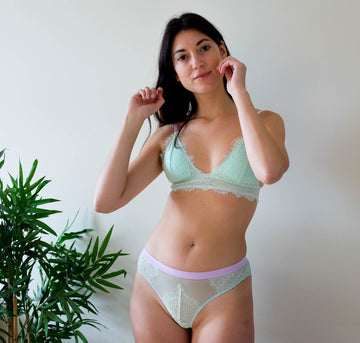 Mint eyelash & lavender seamless knicker Bottoms Dora Larsen