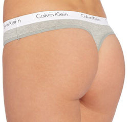 Calvin Klein Cotton branded thong 2 pack