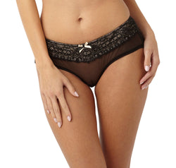 Panache Black and cream lace shorty