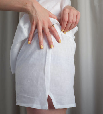 Linen Short [Crisp White] Sleep Hesper Fox