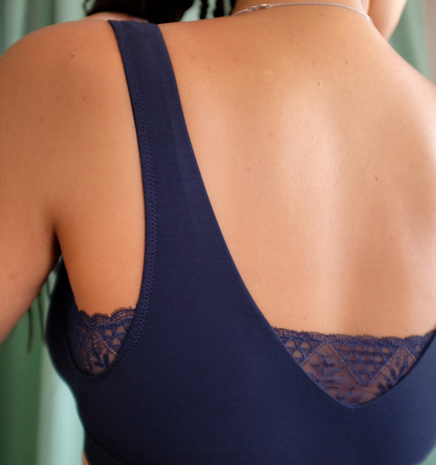 Six Studio Navy Sleep Bra