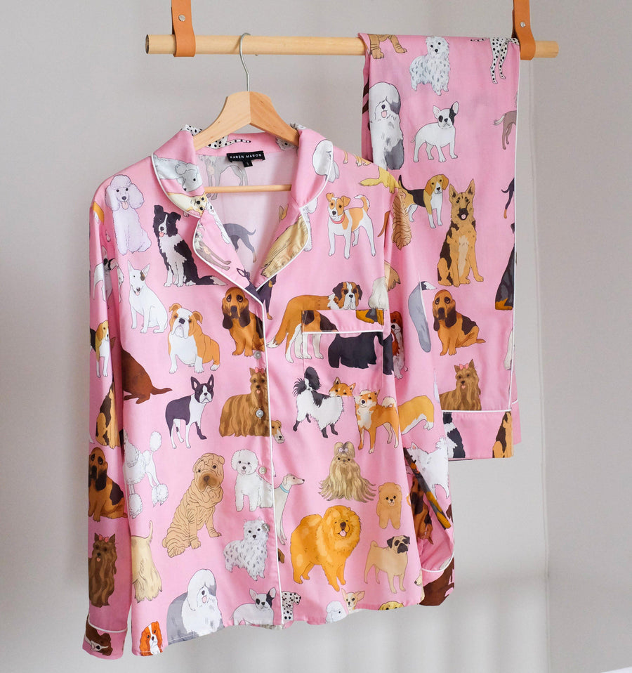 Crufts long cotton pyjamas Sleep Karen Mabon