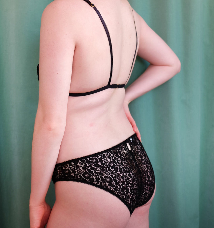 Lace Knicker Black