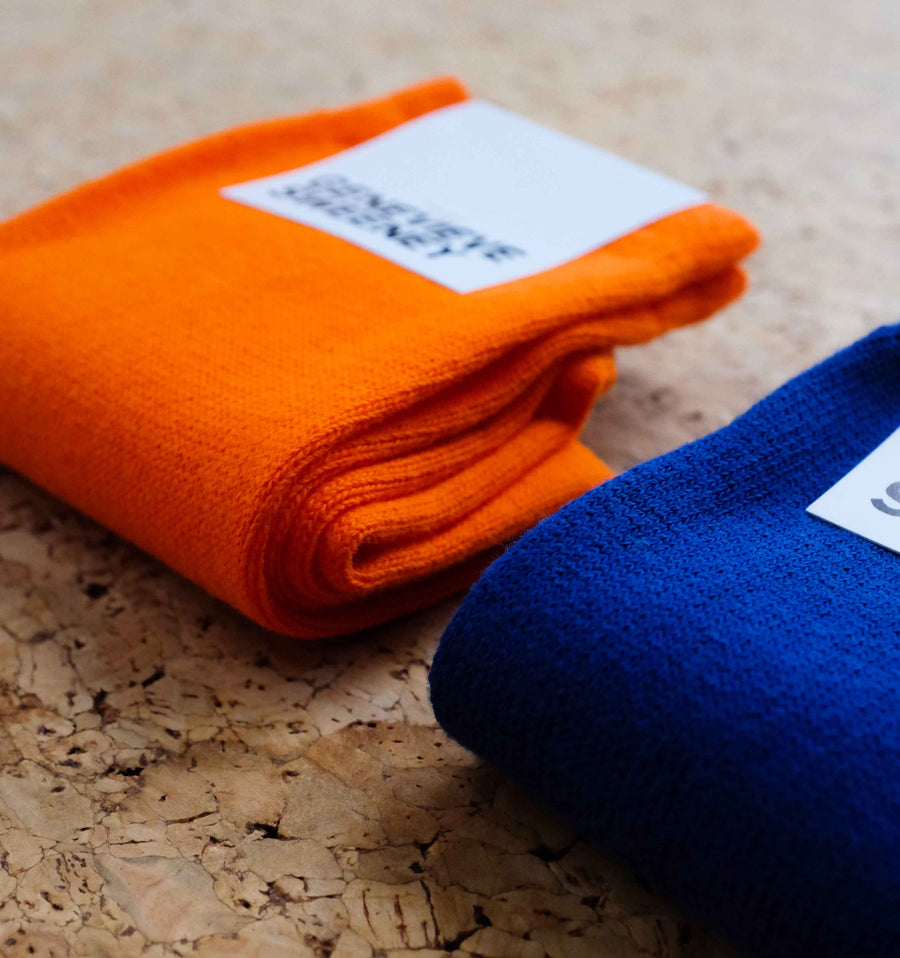 Modern cotton sock [Neon Orange] Accessories Genevieve Sweeney