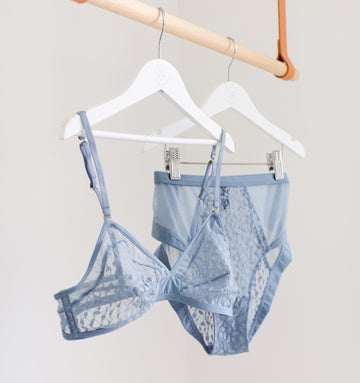 Abstract mesh high knicker [Cornflower]