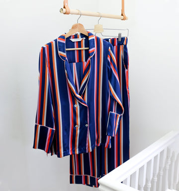 Silk pyjama trousers [Cruise stripe]