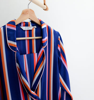 Silk pyjama shirt [Cruise stripe]