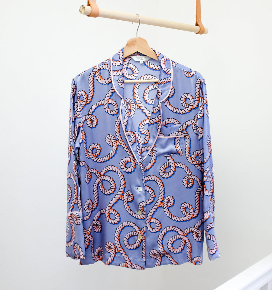 Silk pyjama shirt [Pale Rope]