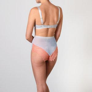Blue mesh & blush eyelash padded balconette - The Pantry Underwear