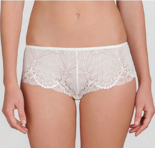 Deco lace french knicker [Ivory] - The Pantry Underwear