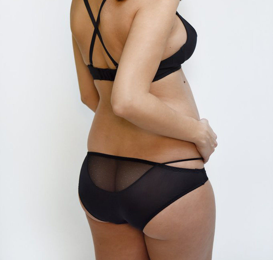 Bikini knickers [Black] - The Pantry Underwear