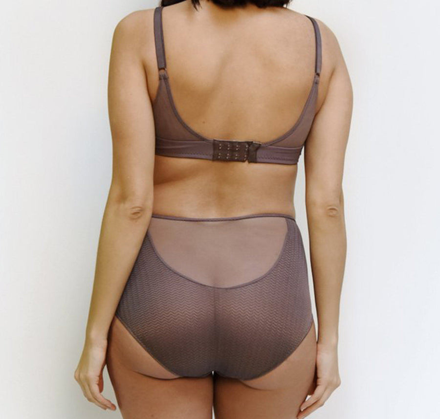 High waist knicker [Taupe] - The Pantry Underwear