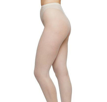 Elvira net tights [Ivory] Accessories Swedish Stockings small
