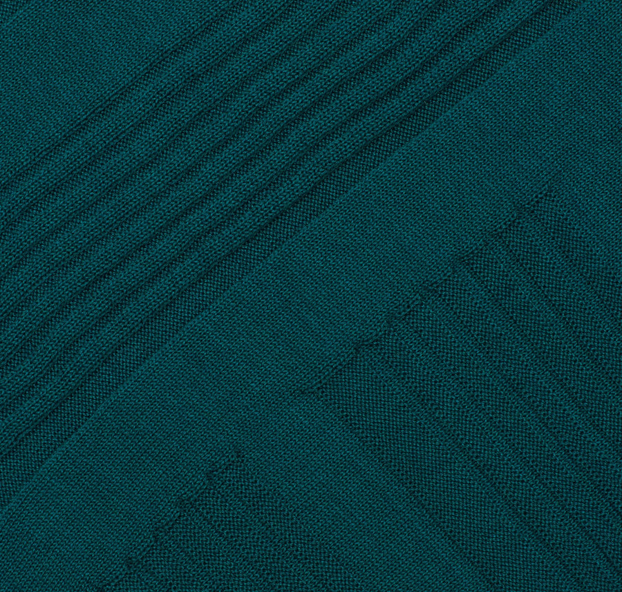 Italian cotton geometric textured pencil skirt [Deep Teal] - The Pantry Underwear