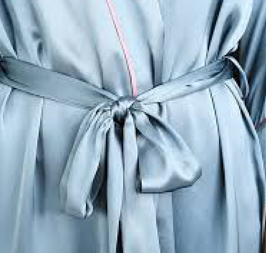 Silk kimono robe [Teal] - The Pantry Underwear