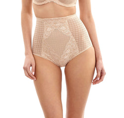 Houndstooth high waist control brief [Natural] - The Pantry Underwear