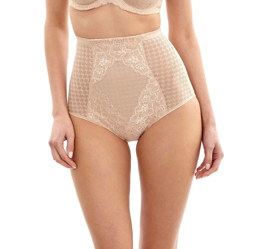 Houndstooth high waist control brief [Beige] - The Pantry Underwear