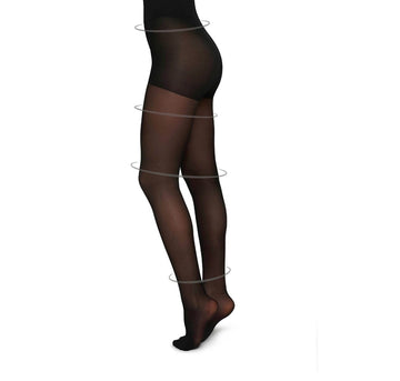 Irma support tights 30 den [Black] Accessories Swedish Stockings small