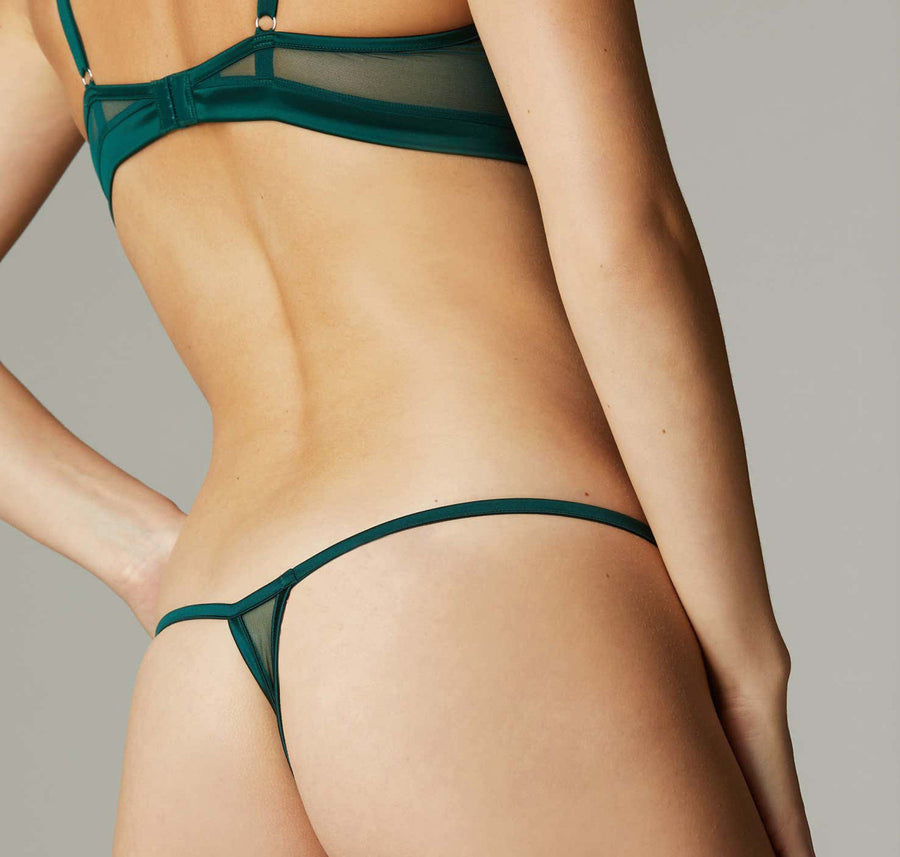 Mesh thong [Teal] Bottoms Implicite