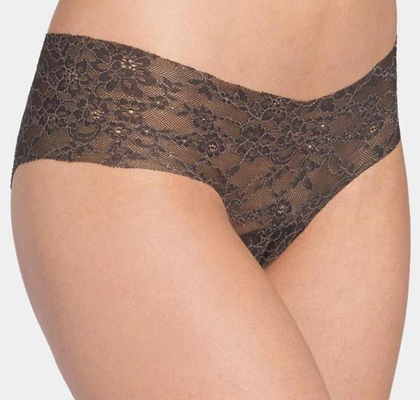 Invisible lace hipster [Black] - The Pantry Underwear