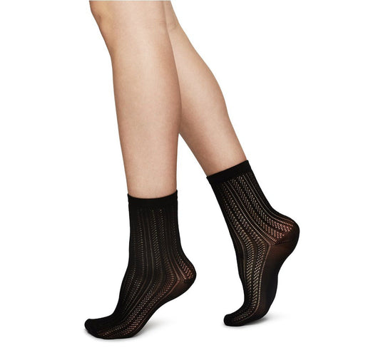 Klara knit sock [Black] - The Pantry Underwear