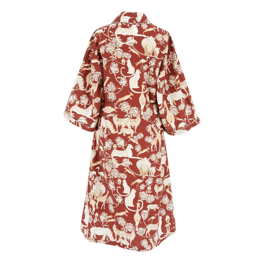 red pattern sleepwear