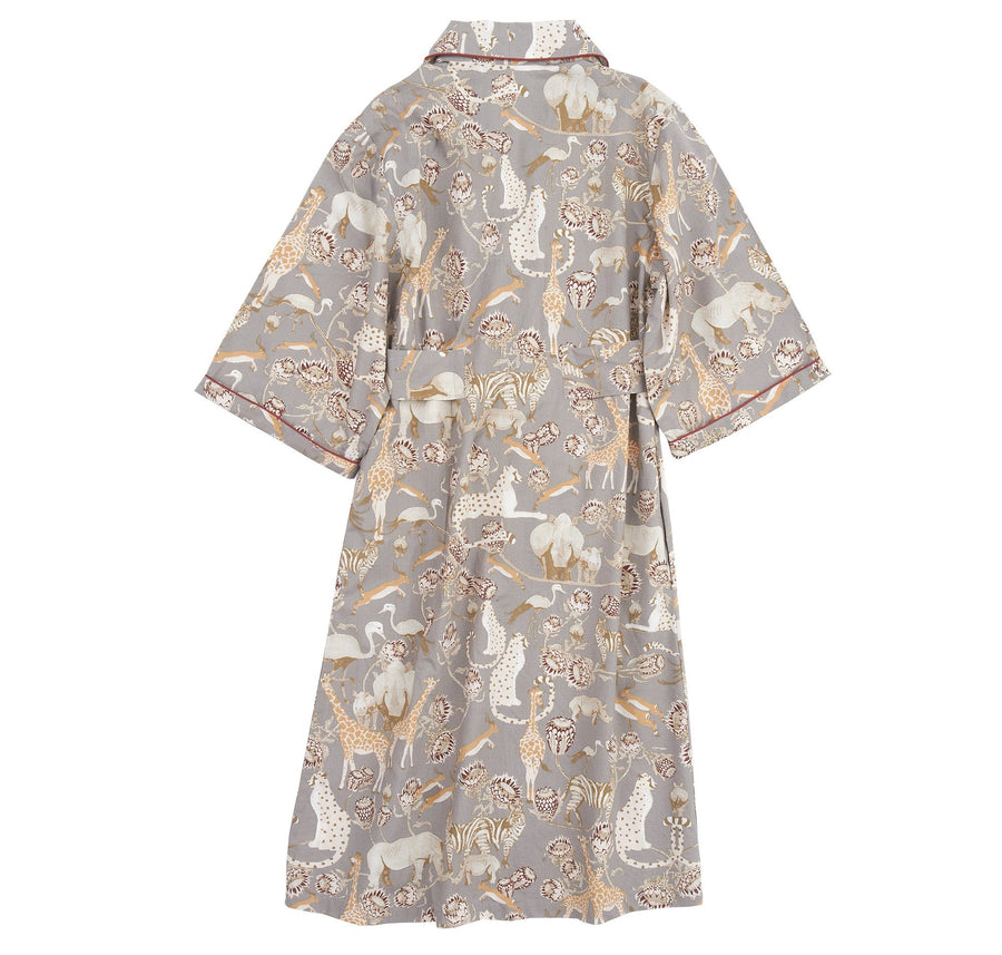 Grey pattern dressing gown