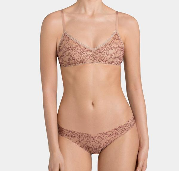 Lace overlay padded bralette - The Pantry Underwear