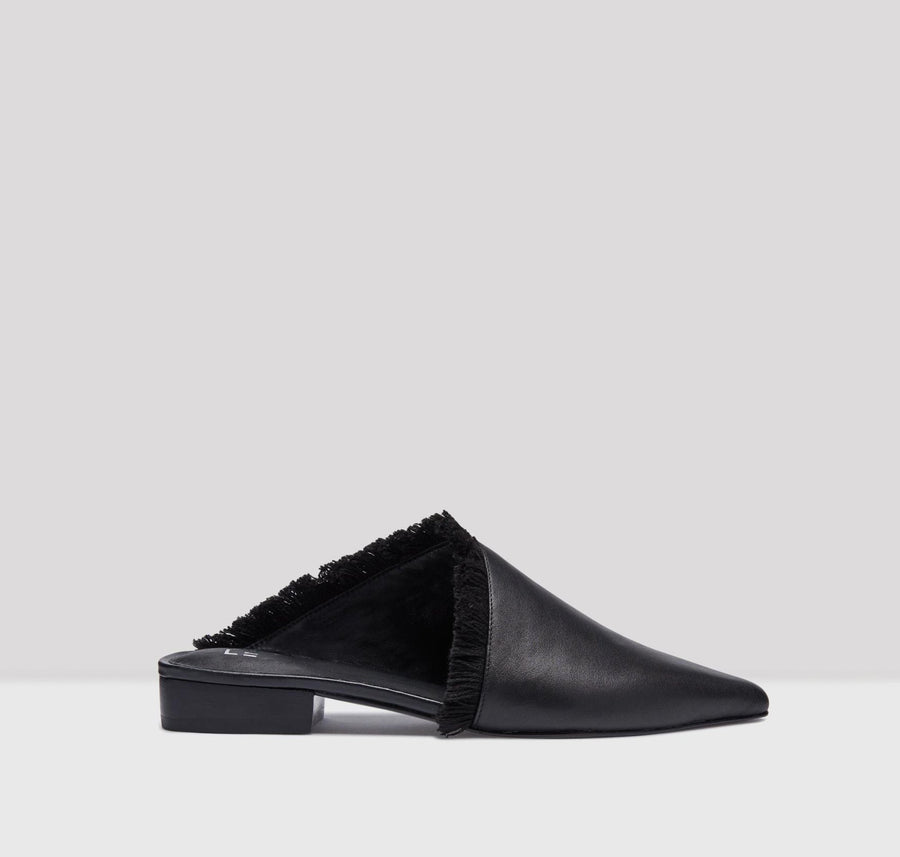 Leroy leather flats [Black] - The Pantry Underwear