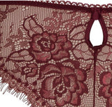 Eyelash lace thong - The Pantry Underwear