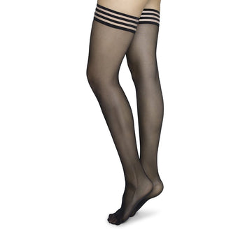 Mira stay up [Black] Accessories Swedish Stockings