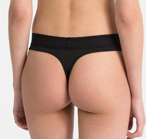 RS branded band thong [Black] - The Pantry Underwear