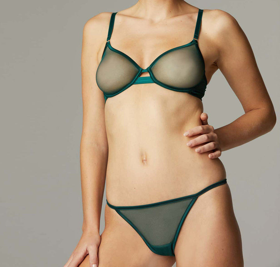 green underwear set