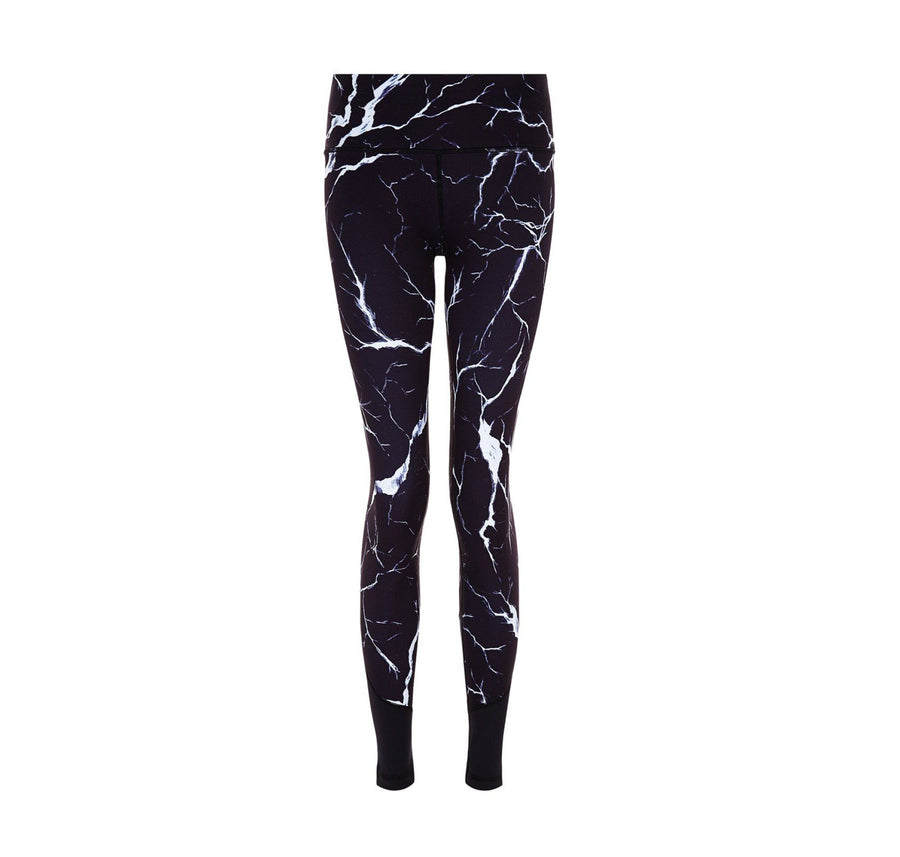 Noir Crackle Legging [Black] - The Pantry Underwear