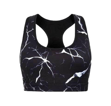 Noir Crackle crop top - The Pantry Underwear
