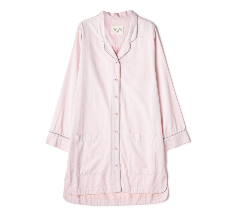 Soft cotton chambray nightshirt [Baby Pink] - The Pantry Underwear